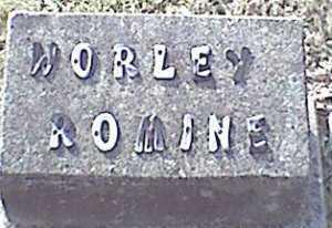 ROMINE, WORLEY - Meigs County, Ohio | WORLEY ROMINE - Ohio Gravestone Photos