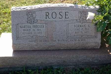 FRECKER ROSE, MARTHA - Meigs County, Ohio | MARTHA FRECKER ROSE - Ohio Gravestone Photos