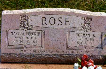 FRECKER, MARTHA - Meigs County, Ohio | MARTHA FRECKER - Ohio Gravestone Photos
