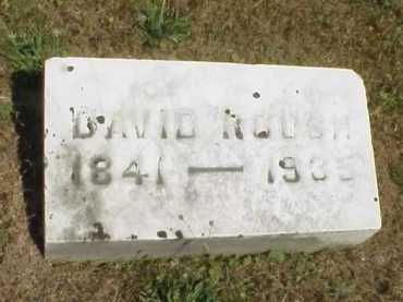 ROUSH, DAVID - Meigs County, Ohio | DAVID ROUSH - Ohio Gravestone Photos