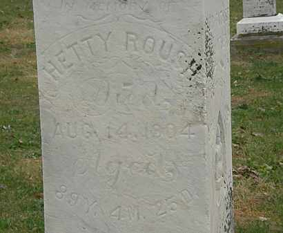 ROUSH, HETTY - Meigs County, Ohio | HETTY ROUSH - Ohio Gravestone Photos