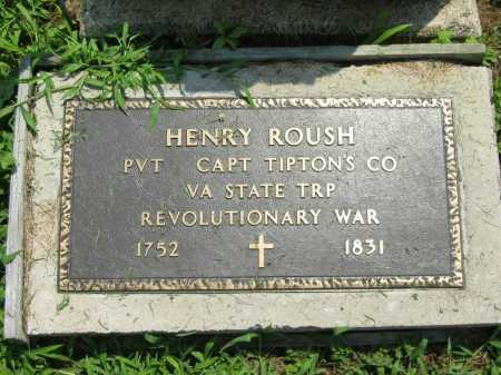 ROUSH, HENRY - Meigs County, Ohio | HENRY ROUSH - Ohio Gravestone Photos