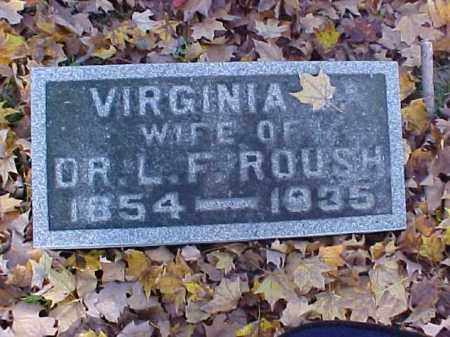ROUSH, VIRGINIA - Meigs County, Ohio | VIRGINIA ROUSH - Ohio Gravestone Photos