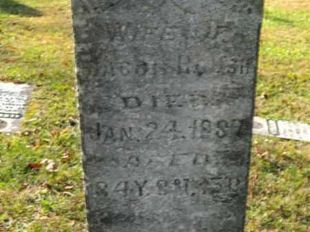 ROUSH, WIFE OF - Meigs County, Ohio | WIFE OF ROUSH - Ohio Gravestone Photos