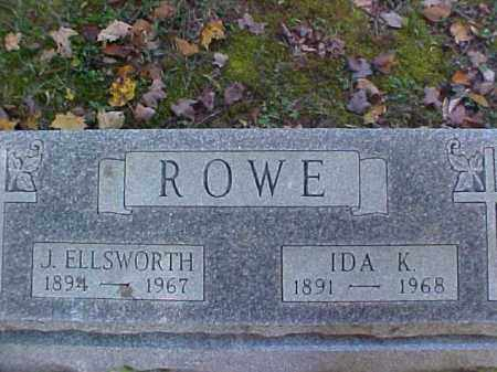 ROWE, JAMES ELLSWORTH - Meigs County, Ohio | JAMES ELLSWORTH ROWE - Ohio Gravestone Photos