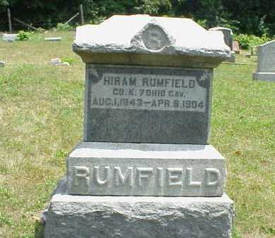 RUMFIELD, HIRAM - Meigs County, Ohio | HIRAM RUMFIELD - Ohio Gravestone Photos