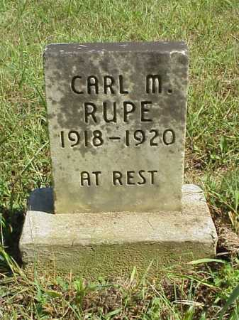 RUPE, CARL M. [MALCOM} - Meigs County, Ohio | CARL M. [MALCOM} RUPE - Ohio Gravestone Photos