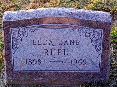 RUPE, ELDA JANE - Meigs County, Ohio | ELDA JANE RUPE - Ohio Gravestone Photos