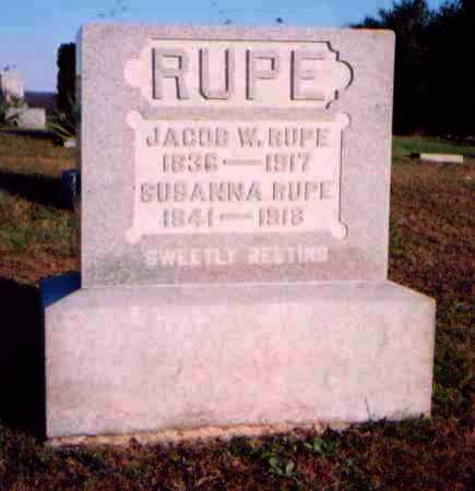 RUPE, JACOB W. - Meigs County, Ohio | JACOB W. RUPE - Ohio Gravestone Photos
