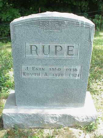 RUPE, J. ENIN - Meigs County, Ohio | J. ENIN RUPE - Ohio Gravestone Photos