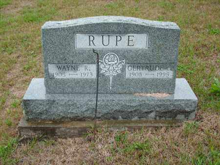 RUPE, WAYNE R - Meigs County, Ohio | WAYNE R RUPE - Ohio Gravestone Photos