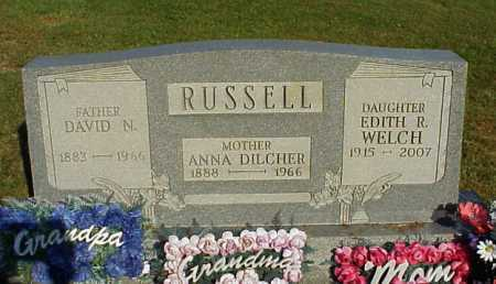 RUSSELL WELCH, EDITH R. - Meigs County, Ohio | EDITH R. RUSSELL WELCH - Ohio Gravestone Photos