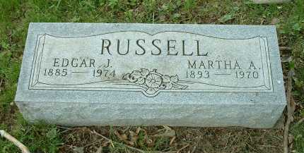 RUSSELL, MARTHA A. - Meigs County, Ohio | MARTHA A. RUSSELL - Ohio Gravestone Photos