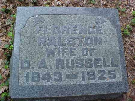 RUSSELL, FLORENCE - Meigs County, Ohio | FLORENCE RUSSELL - Ohio Gravestone Photos