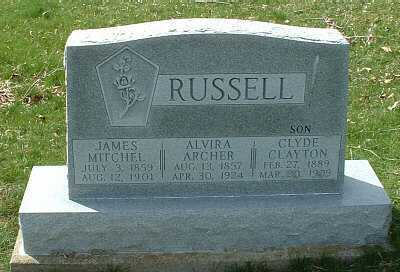 RUSSELL, JAMES MITCHEL - Meigs County, Ohio | JAMES MITCHEL RUSSELL - Ohio Gravestone Photos