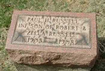 RUSSELL, PAUL H. - Meigs County, Ohio | PAUL H. RUSSELL - Ohio Gravestone Photos