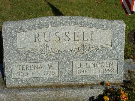 RUSSELL, J. LINCOLN - Meigs County, Ohio | J. LINCOLN RUSSELL - Ohio Gravestone Photos