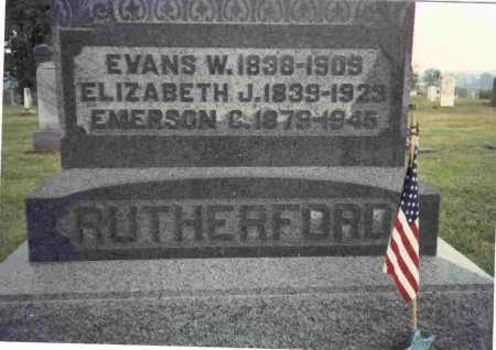 RUTHERFORD, ELIZABETH J. - Meigs County, Ohio | ELIZABETH J. RUTHERFORD - Ohio Gravestone Photos