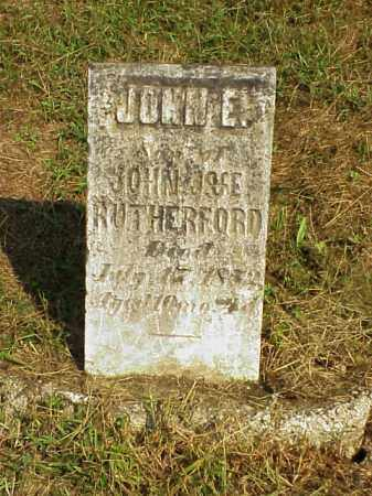 RUTHERFORD, JOHN E. - Meigs County, Ohio | JOHN E. RUTHERFORD - Ohio Gravestone Photos