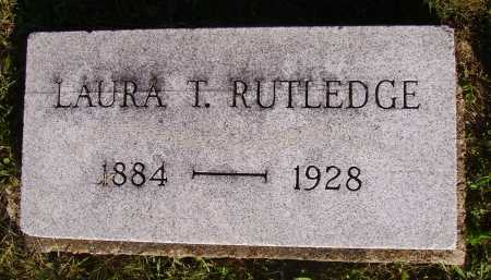 RUTLEDGE, LAURA T. - Meigs County, Ohio | LAURA T. RUTLEDGE - Ohio Gravestone Photos