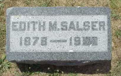 SALSER, EDITH M. - Meigs County, Ohio | EDITH M. SALSER - Ohio Gravestone Photos