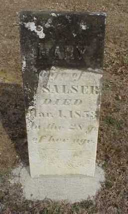 SALSER, MARY - Meigs County, Ohio | MARY SALSER - Ohio Gravestone Photos