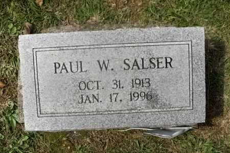 SALSER, PAUL WOODRUFF - Meigs County, Ohio | PAUL WOODRUFF SALSER - Ohio Gravestone Photos
