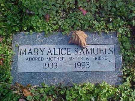 SAMUELS, MARY ALICE - Meigs County, Ohio | MARY ALICE SAMUELS - Ohio Gravestone Photos