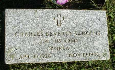 SARGENT, CHARLES BEVERLY - MILITARY - Meigs County, Ohio | CHARLES BEVERLY - MILITARY SARGENT - Ohio Gravestone Photos