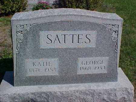 SATTES, KATIE - Meigs County, Ohio | KATIE SATTES - Ohio Gravestone Photos