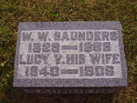 SAUNDERS, LUCY V. - Meigs County, Ohio | LUCY V. SAUNDERS - Ohio Gravestone Photos