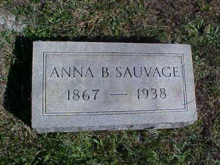 SAUVAGE, ANNA B. - Meigs County, Ohio | ANNA B. SAUVAGE - Ohio Gravestone Photos
