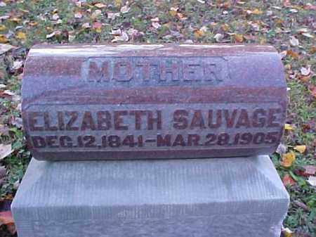 SAUVAGE, ELIZABETH - Meigs County, Ohio | ELIZABETH SAUVAGE - Ohio Gravestone Photos