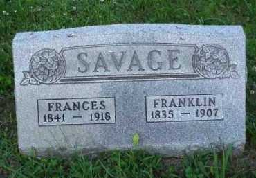SAVAGE, FRANCES - Meigs County, Ohio | FRANCES SAVAGE - Ohio Gravestone Photos