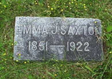 SAXTON, EMMA J. - Meigs County, Ohio | EMMA J. SAXTON - Ohio Gravestone Photos