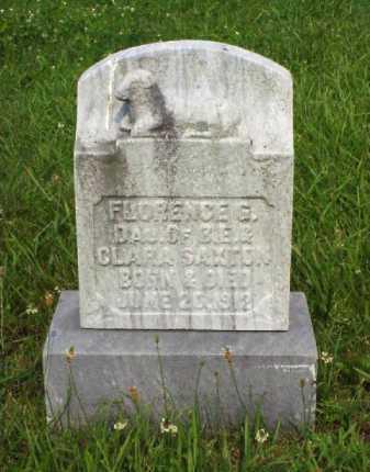 SAXTON, FLORENCE G. - Meigs County, Ohio   FLORENCE G. SAXTON - Ohio Gravestone Photos