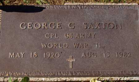 SAXTON, GEORGE G. - Meigs County, Ohio | GEORGE G. SAXTON - Ohio Gravestone Photos