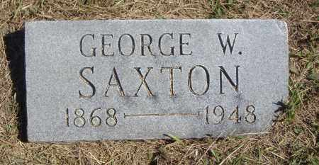 SAXTON, GEORGE W. - Meigs County, Ohio | GEORGE W. SAXTON - Ohio Gravestone Photos