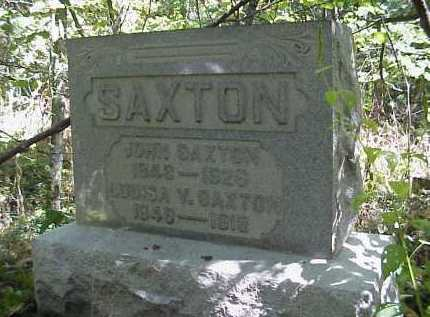 SAXTON, LOUISA V. - Meigs County, Ohio | LOUISA V. SAXTON - Ohio Gravestone Photos