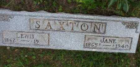SAXTON, LEWIS - Meigs County, Ohio | LEWIS SAXTON - Ohio Gravestone Photos