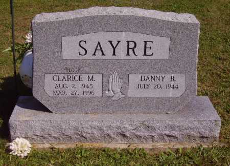 "SAYRE, CLARICE MARGARET ""PEGGY"" - FRONT OF STONE - Meigs County, Ohio 