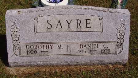 SAYRE, DANIEL C. - Meigs County, Ohio | DANIEL C. SAYRE - Ohio Gravestone Photos