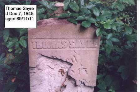 SAYRE, THOMAS - Meigs County, Ohio | THOMAS SAYRE - Ohio Gravestone Photos