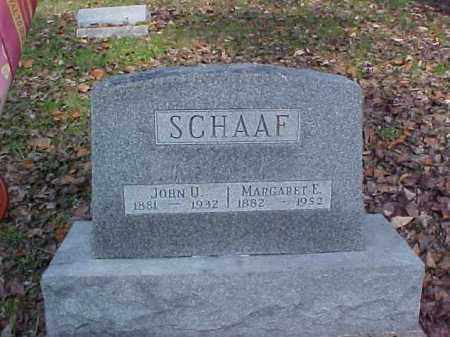 SCHAAF, MARGARET E. - Meigs County, Ohio | MARGARET E. SCHAAF - Ohio Gravestone Photos