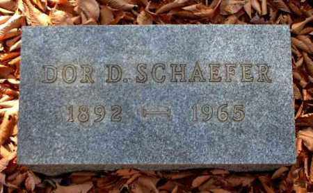 SCHAEFER, DOR D. - Meigs County, Ohio | DOR D. SCHAEFER - Ohio Gravestone Photos