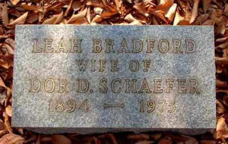 SCHAEFER, LEAH BRADFORD - Meigs County, Ohio | LEAH BRADFORD SCHAEFER - Ohio Gravestone Photos