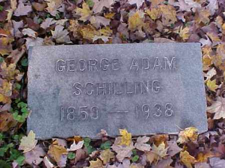 SCHILLING, GEORGE ADAM - Meigs County, Ohio | GEORGE ADAM SCHILLING - Ohio Gravestone Photos
