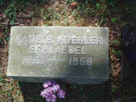 SCHLAEGEL, KATIE E. - Meigs County, Ohio | KATIE E. SCHLAEGEL - Ohio Gravestone Photos