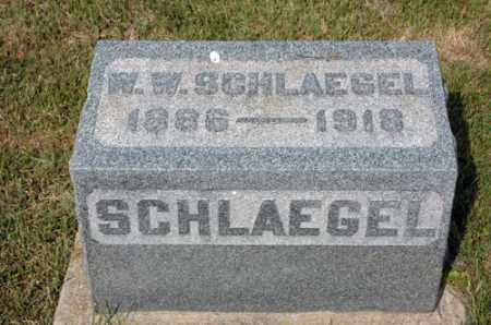 SCHLAEGEL, W.W. - Meigs County, Ohio | W.W. SCHLAEGEL - Ohio Gravestone Photos