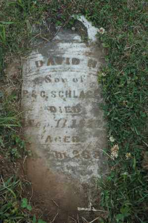 SCHLAGEL, DAVID H. - Meigs County, Ohio | DAVID H. SCHLAGEL - Ohio Gravestone Photos